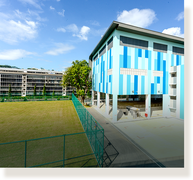 Fajar Secondary School's newly renovated indoor sports hall.