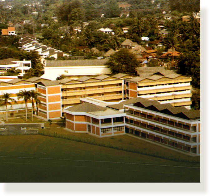 First junior college, National Junior College at Linden Drive (1968).