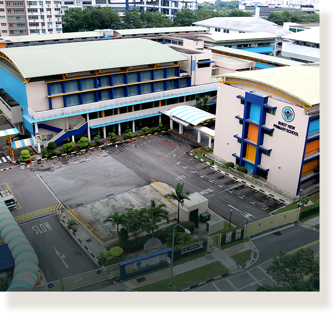 Bukit View Primary School after PRIME upgrading in 2001.