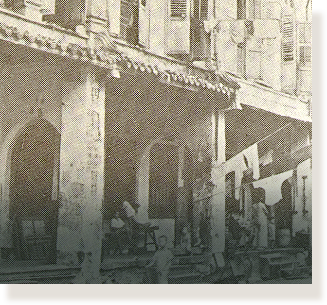 The first Anglo-Chinese School in a shophouse at 70 Amoy Street.